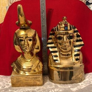 Egyptian inspired decanters